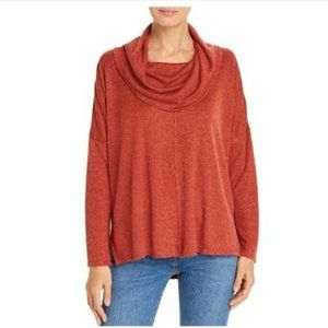 Status by Chenault Women's Cowl Neck Oversized Sweater Size M Pumpkin NWOT!
